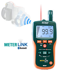 MO297 - Pinless Moisture Psychrometer with IR Thermometer and Bluetooth MeterLink™